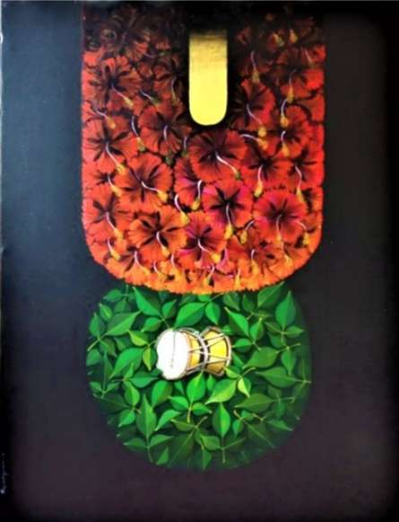 Religious Acrylic Art Painting title Kali by artist RAJIB DEYASHI