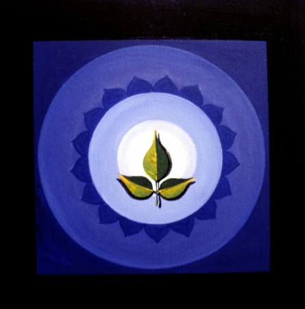 Religious Acrylic Art Painting title 'Meditation' by artist RAJIB DEYASHI