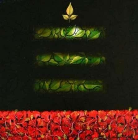 Religious Acrylic Art Painting title Mohakal by artist RAJIB DEYASHI