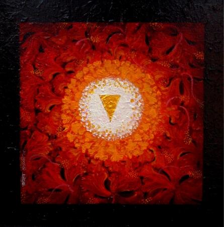Religious Acrylic Art Painting title Prokriti by artist RAJIB DEYASHI