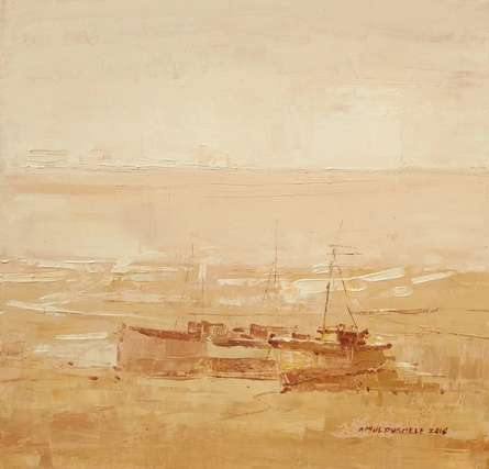 Boat 2 | Painting by artist Amol Dubhele | watercolor | Paper