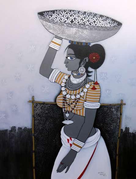 Seller   Painting by artist GAJRAJ  CHAVAN   acrylic   Canvas