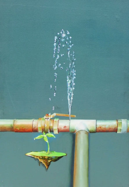 Water Is Life | Painting by artist Subhendu Mishra | acrylic | Canvas