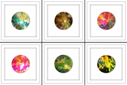 Amit Dodiya | Colourful Mind Mixed media by artist Amit Dodiya on Glass | ArtZolo.com