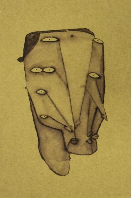 Faces | Drawing by artist Darshan Mahajan | | ink | Cardboard