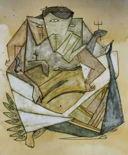 Morya | Painting by artist Darshan Mahajan | watercolor | Paper