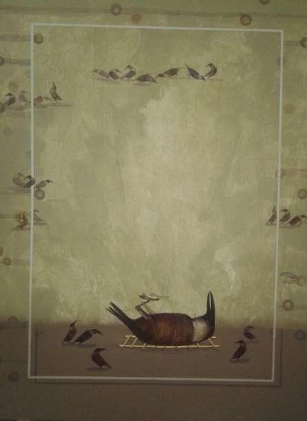 Last Meeting | Painting by artist Yogesh Lahane | acrylic | Canvas