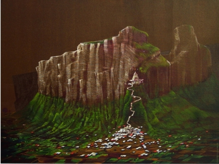 Landscape Acrylic Art Painting title Wani by artist Yogesh Lahane