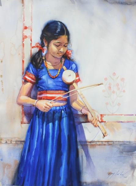 Child Hood Fantacy 3 | Painting by artist Vijay Jadhav | watercolor | Paper