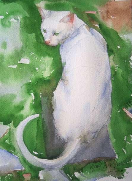 Green Carpat 1 | Painting by artist Vijay Jadhav | watercolor | Paper
