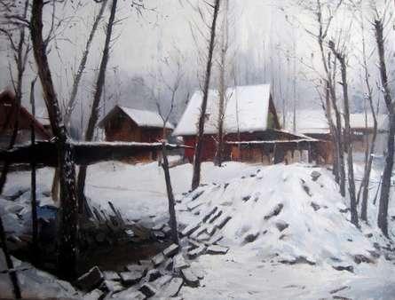 Kashmir 1 | Painting by artist Vijay Jadhav | oil | canvas