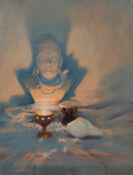 Religious Oil Art Painting title Still Life by artist Vijay Jadhav