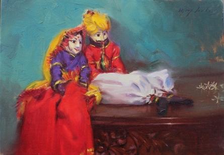 Still-life Oil Art Painting title Still Life 1 by artist Vijay Jadhav