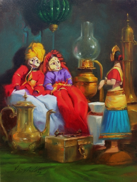 Still-life Oil Art Painting title 'Still Life 2' by artist Vijay Jadhav