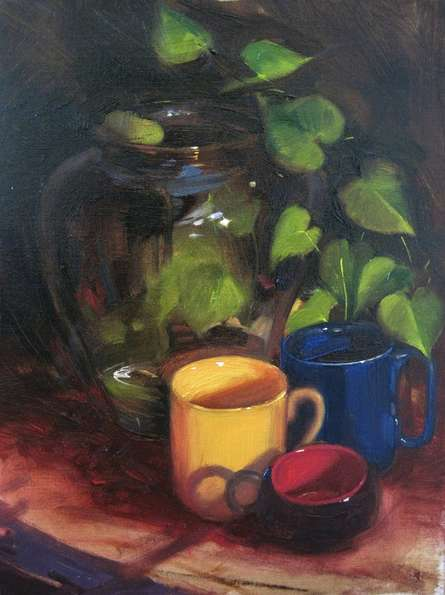 Still-life Oil Art Painting title 'Still Life' by artist Vijay Jadhav