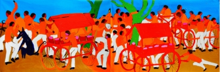 Around The Tree   Painting by artist Kumar Ranjan   acrylic   Canvas