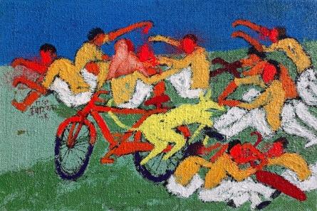 Figurative Acrylic Art Painting title 'Day 3' by artist Kumar Ranjan