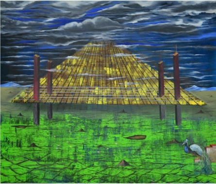 Is That Ending Of Existance | Painting by artist Ashish Kushwaha | acrylic-oil | Canvas