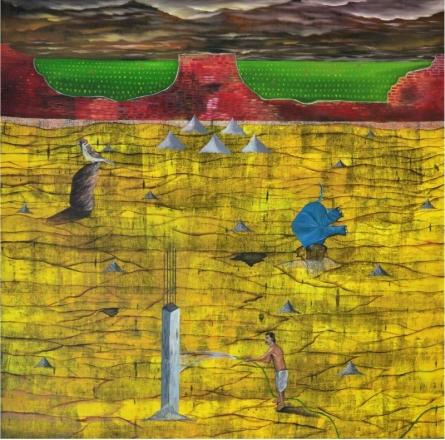 Nearing Extinction | Painting by artist Ashish Kushwaha | acrylic-oil | Canvas