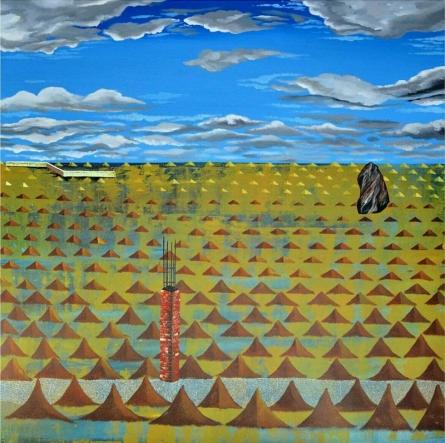 Urban Metaphor 2   Painting by artist Ashish Kushwaha   acrylic   Canvas