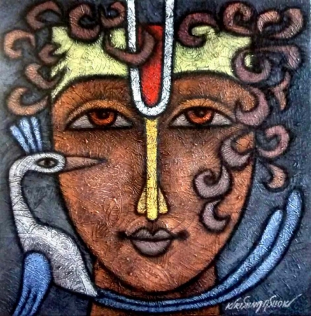 Advaitha 11 | Mixed_media by artist Krishna Ashok | Canvas