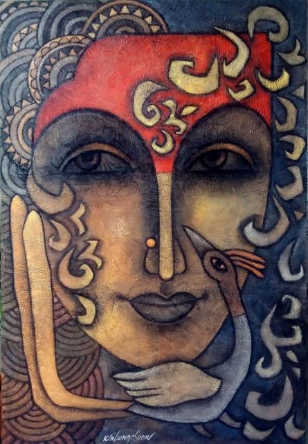 Advaitha 14 | Mixed_media by artist Krishna Ashok | Canvas