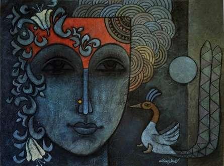Advaitha 15 | Mixed_media by artist Krishna Ashok | Canvas