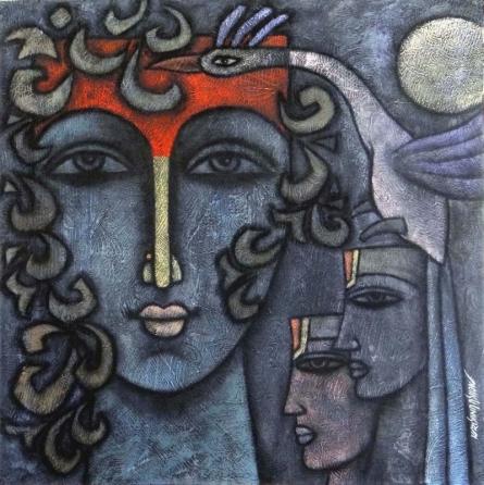 Advaitha 8 | Mixed_media by artist Krishna Ashok | Canvas