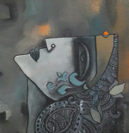 Krishna Ashok | Untitled 16 Mixed media by artist Krishna Ashok on Canvas | ArtZolo.com