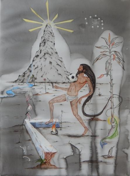 Beautiful Game 1 | Painting by artist Alok Bal | watercolor | Acid Free Paper