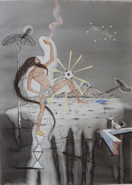 Beautiful Game 3 | Painting by artist Alok Bal | watercolor | Acid Free Paper