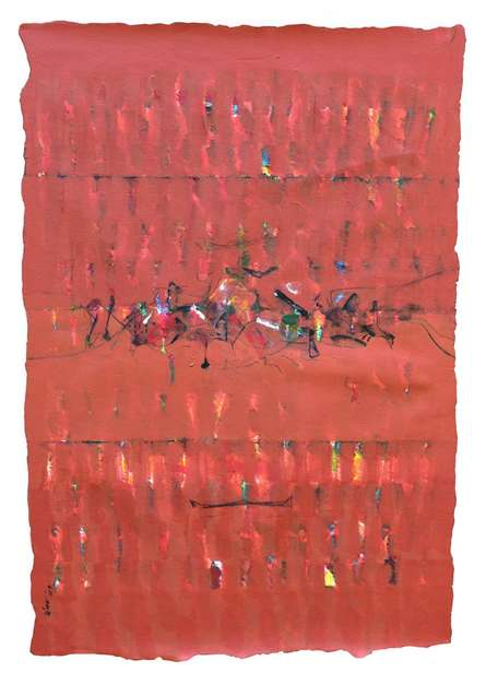 Mindspace 9 | Painting by artist Sanjay Tikkal | acrylic | Canvas