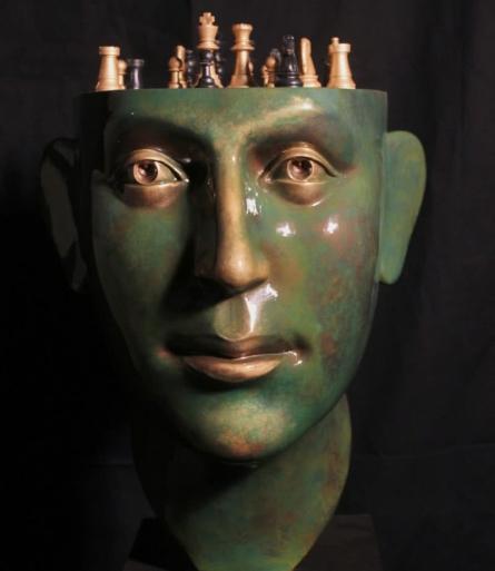 Fiberglass Sculpture titled 'Chess' by artist Sagar Rampure