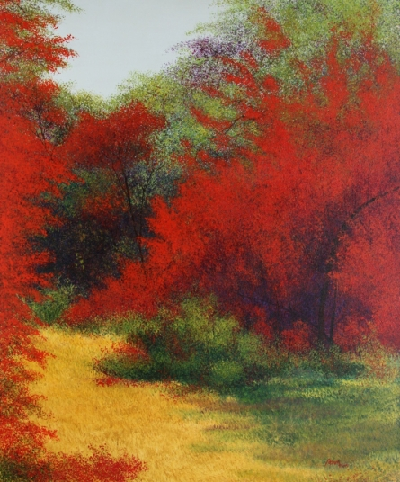Nature Acrylic Art Painting title 'Autum 1' by artist VIMAL CHAND