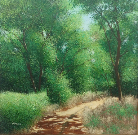 Nature Acrylic Art Painting title 'Cool Shadow' by artist VIMAL CHAND