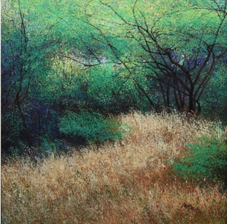 Nature Acrylic Art Painting title 'Dry Grass' by artist VIMAL CHAND