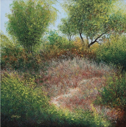 Dry Grass 1 | Painting by artist VIMAL CHAND | acrylic | Canvas
