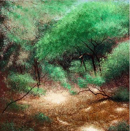 Nature Acrylic Art Painting title 'Sunlight' by artist VIMAL CHAND