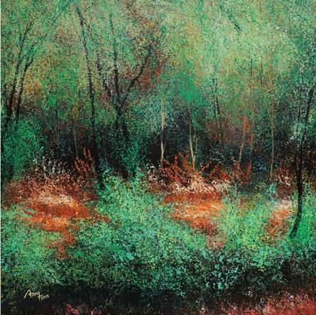 Nature Acrylic Art Painting title 'Trees' by artist VIMAL CHAND