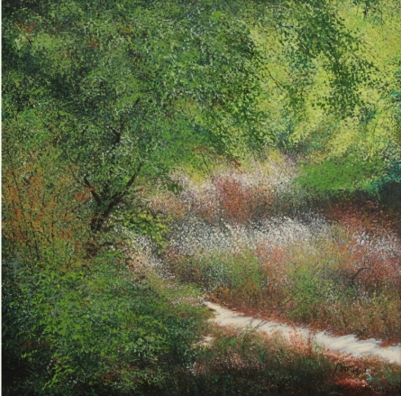 Nature Acrylic Art Painting title Way by artist VIMAL CHAND