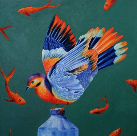 Water Search 7 | Painting by artist ABHILASHA SINGH | oil | Canvas