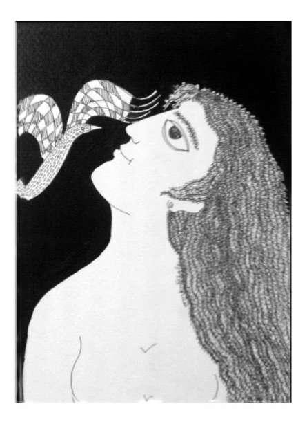 Figurative Pen-ink Art Drawing title Drawing Ii by artist Sambuddha Gupta