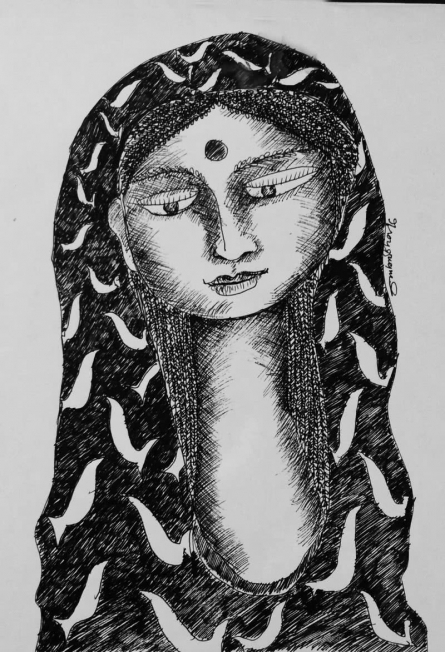 Drawing Viii | Drawing by artist Sambuddha Gupta | | Pen&Ink | Paper