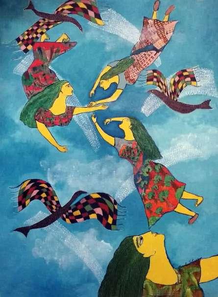 Reminiscence Iv | Painting by artist Sambuddha Gupta | acrylic | Canvas