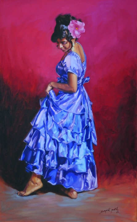 Figurative Oil Art Painting title 'Zoyaa' by artist Swapnil Patil
