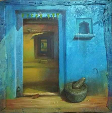Door   Painting by artist Gopal Pardeshi   acrylic   Canvas