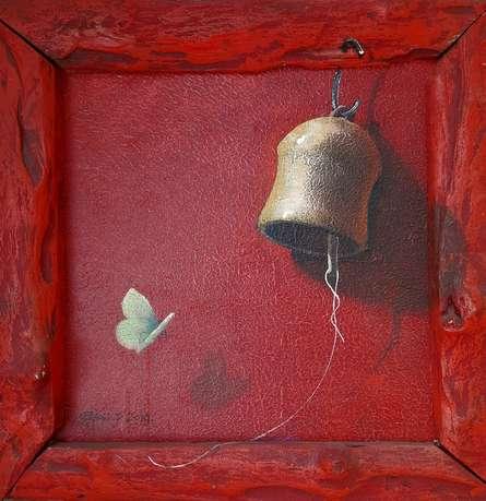 Still-life Acrylic Art Painting title Bell by artist Gopal Pardeshi