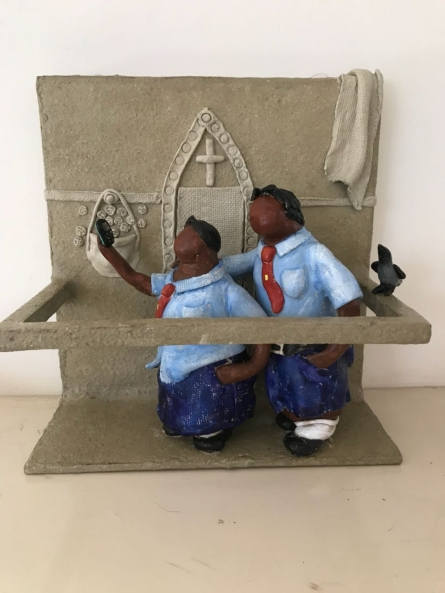 Kholi No 39 | Sculpture by artist Bharati Pitre | Paper Mache