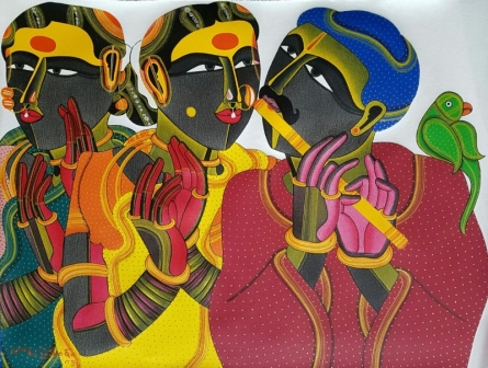 Figurative Acrylic Art Painting title 'Untitled 15' by artist Thota Vaikuntam