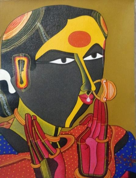 Figurative Acrylic Art Painting title 'Untitled' by artist Thota Vaikuntam